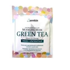 Альгинатная маска с зеленым чаем, успокаивающая с антиоксидантным эффектом Anskin Green Tea Modeling Mask