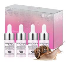 Сыворотка для лица с экстрактом улитки Bergamo Pure Snail Ampoule