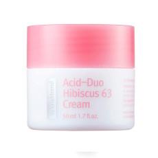 Антиоксидантный крем с LHA-кислотой By Wishtrend Acid-Duo Hibiscus 63 Cream