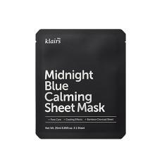 Успокаивающая тканевая маска с охлаждающим действием Dear Klairs Midnight Blue Calming Sheet Mask