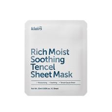 Успокаивающая маска для глубокого увлажнения кожи Dear Klairs Rich Moist Soothing Tencel Sheet Mask