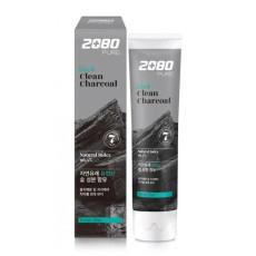 Зубная паста отбеливающая уголь и мята Dental Clinic 2080 Pure Black Clean Charcoal - Fresh Mint