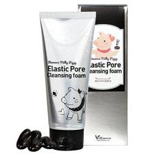 Пенка-маска от расширенных пор с древесным углем Elizavecca Milky Piggy Elastic Pore Cleansing Foam