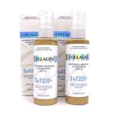 Тональный крем с коллагеном осветляющий Enough Collagen Whitening Moisture Foundation