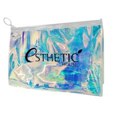 Полупрозрачная голографическая косметичка-хамелеон на молнии Esthetic House Holographic Cosmetic Bag
