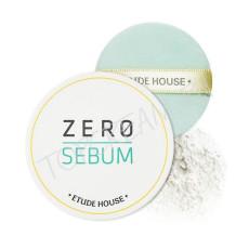 Моментально матирующая минеральная прозрачная пудра Etude House Zero Sebum Drying Powder