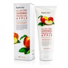 Пилинг-скатка с экстрактом яблока Farm Stay All In One Whitening Peeling Gel Apple