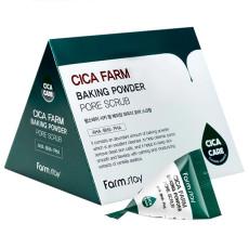 Скраб с содой, кислотами и центеллой Farm Stay Cica Farm Baking Powder AHA-BHA-PHA Pore Scrub