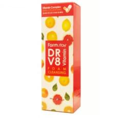 Пенка с комплексом витаминов Farm Stay DR-V8 Vitamin Foam Cleansing