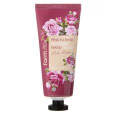 Крем для рук с розовой водой Farm Stay Pink Flower Blooming Hand Cream Pink Rose