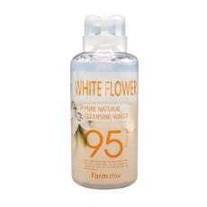 Мицелярная вода с цветочным экстрактом Farm Stay Pure Natural Cleansing Water 95% purity - White Flower