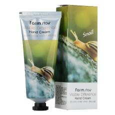 Крем для рук с улиткой Farm Stay Visible Difference Hand Cream Snail