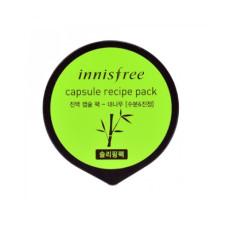 Ночная маска для лица с экстрактом бамбука Innisfree Capsule Recipe Pack - Bamboo