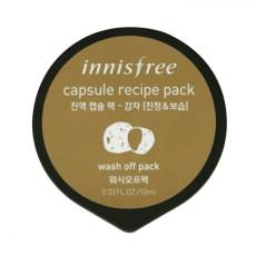Смываемая маска для лица с экстрактом картофеля - увлажнение и питание кожи Innisfree Capsule Recipe Pack - Potato