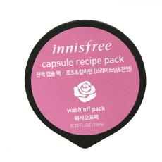 Смываемая маска для лица с розой и каламином - снятие воспалений Innisfree Capsule Recipe Pack - rose and calamine