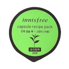 Массажная маска для лица с экстрактом зеленого чая Innisfree Capsule Recipe Pack - Green Tea