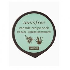 Успокаивающая маска для лица с алое и маслом дерева Торреи Innisfree Capsule Recipe Pack - Jeju Bija And Aloe