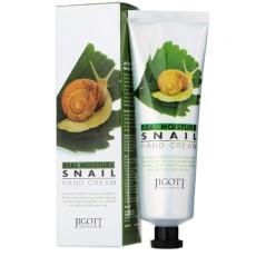 Крем для рук с улиткой Jigott Real Moisture Hand Cream Snail