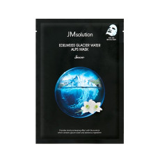 Маска для лица целлюлозная с экстрактом эдельвейса и ледниковой водой Альп JMsolution Edelweiss Glacier Water Alps Snow Mask