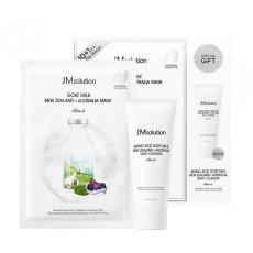 Набор для лица с козьим молоком из 11 тканевых масок и пенки JMsolution Goat Milk New Zealand + Australia SET
