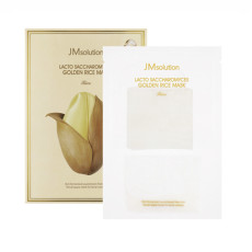 Маска для выравнивания тона с лактобактериями JMsolution Lacto Saccharomyces Golden Rice Mask