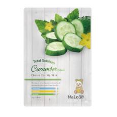 Маска тканевая с экстрактом огурца Meloso Total Solution Mask Cucumber