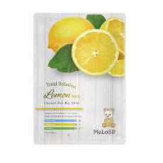 Маска тканевая для лица с экстрактом лимона Meloso Total Solution Mask Lemon