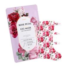 Расслабляющая маска-гольфы для ног с экстрактом розы против отечности Koelf Rose Petal Satin Leg Mask