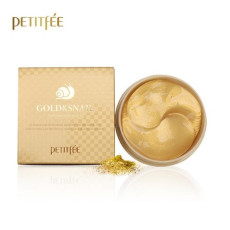 Гидрогелевые патчи с улиткой и золотом Petitfee Gold & Snail Hydrogel Eye Patch