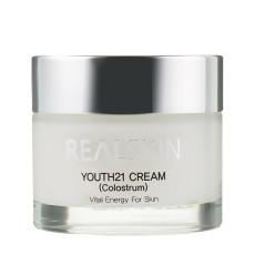 Крем для лица с отбеливающим эффектом на основе колострума Realskin Youth 21 Cream - Colostrum