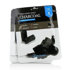 Маска листовая с углем от черных точек 3W Clinic Fresh Charcoal Mask Sheet