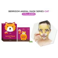 Маска тканевая с коллагеном, кошка Berrisom Animal Mask - Cat