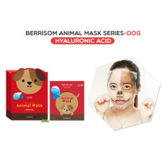 Маска тканевая с гиалуроновой кислотой, собачка Berrisom Animal Mask - Dog