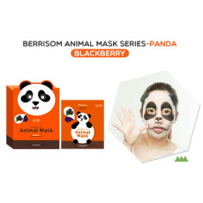 Маска тканевая с черникой, панда Berrisom Animal Mask - Panda