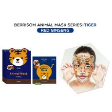 Маска тканевая с красным женьшенем, тигр Berrisom Animal Mask - Tiger