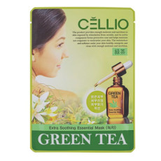 Тканевая маска с зеленым чаем Cellio Extra Soothing Essential Mask Green Tea
