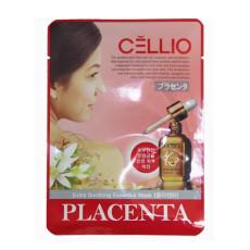 Тканевая маска с плацентой Cellio Extra Soothing Essential Mask Placenta