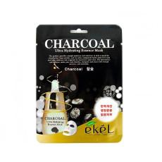 Маска тканевая с углем Ekel Ultra Hydrating Essence Mask Charcoal