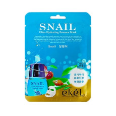 Маска тканевая улитка Ekel Ultra Hydrating Essence Mask Snail