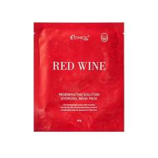 Гидрогелевая маска для лица с красным вином Esthetic House Red Wine Regenerating Solution Hydrogel Mask Pack