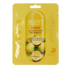 Маска тканевая для лица с витаминами Jigott Angel's In The Sky Real Ampoule Mask Vitamin
