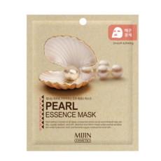Маска для лица тканевая жемчуг MJ Care Mijin Cosmetics Pearl Essence Mask