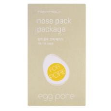 Очищающие полоски от черных точек для носа Tony Moly Egg Pore Nose Pack