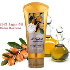 Увлажняющая маска для блеска волос с аргановым маслом Welcos Confume Argan Gold Treatment